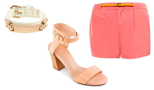 Pastel Belt Shorts Shoes