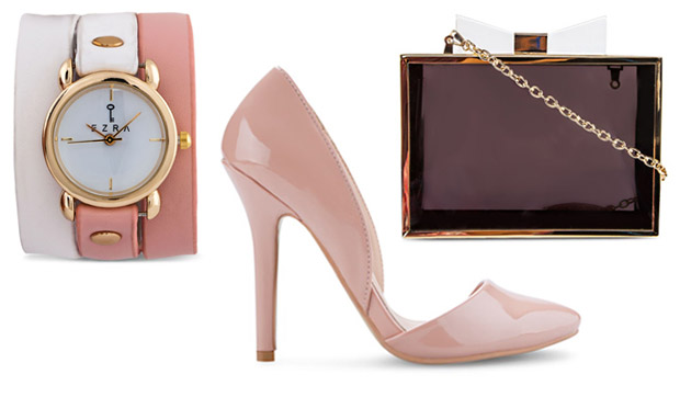 Pastel Watch Purse Shoes