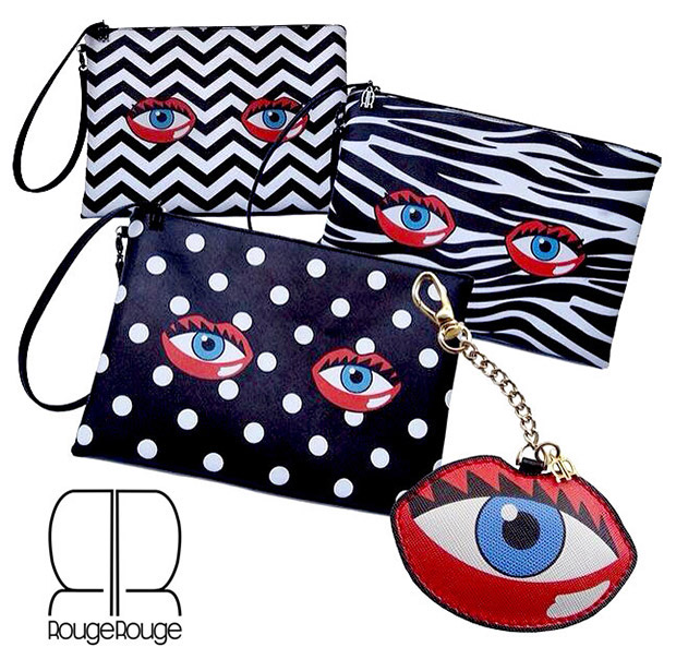 Rouge Rouge Eye Lips Clutch Bag