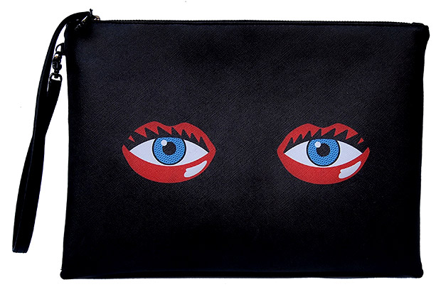 Rouge Rouge Eye Lips Clutch Black