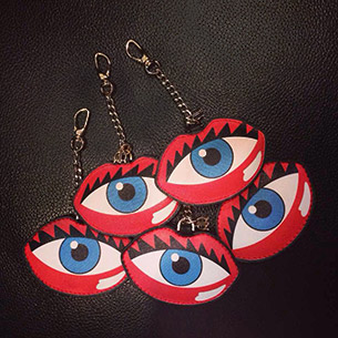 Rouge Rouge Eye Lips Clutch Key Chain