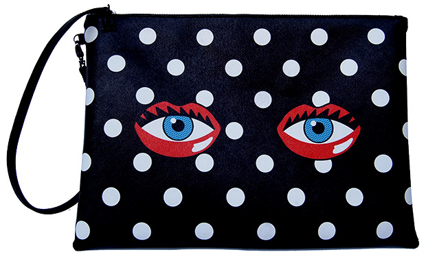 Rouge Rouge Eye Lips Clutch Polka Dot