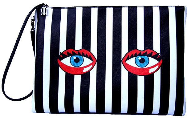 Rouge Rouge Eye Lips Clutch Stripe