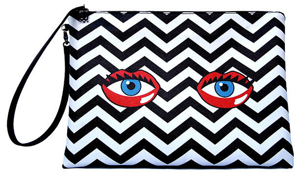 Rouge Rouge Eye Lips Clutch Zigzag