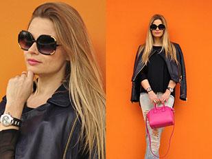 กระเป๋า Givenchy, Jacket Zara, แว่นตากันแดด Zerouv