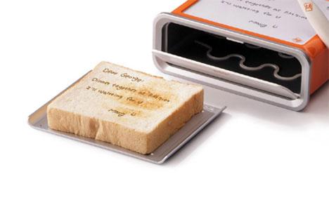 Gadget เครื่องปิ้งขนมปังโน้ตได้ Notepad Toaster