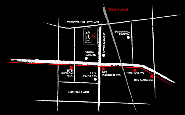 แผนที่ โรงแรมสวิสโซเทล นายเลิศ ปาร์ค