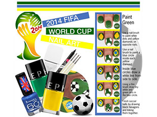 2014 World Cup Nail Art by reddotdaily