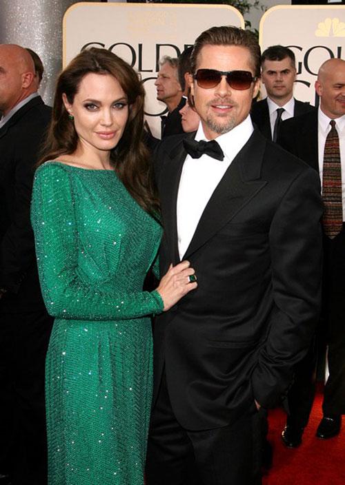 Angelina Jolie, Brad Pitt - Golden Globe Awards 2011
