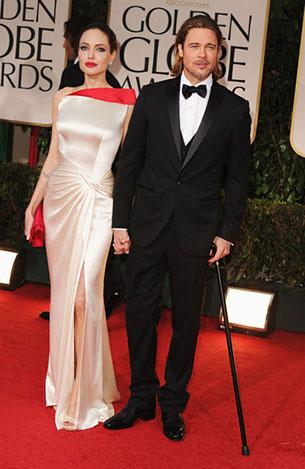 Angelina Jolie, Brad Pitt - Golden Globe Awards