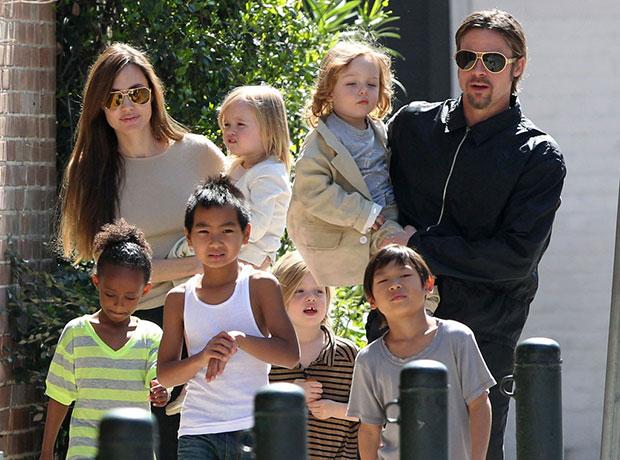 Jolie,Pitt Family