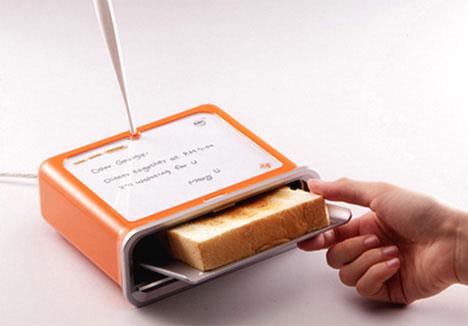 Gadget Notepad Toaster เครื่องปิ้งขนมปังโน้ตได้