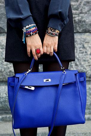 กระเป๋า แอร์เมส สีน้ำเงิน