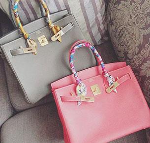 กระเป๋า Hermes สีชมพู