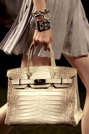 กระเป๋า Hermes สีน้ำตาลอ่อน