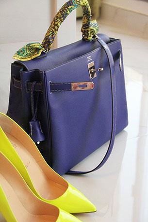 กระเป๋า Hermes สีม่วง