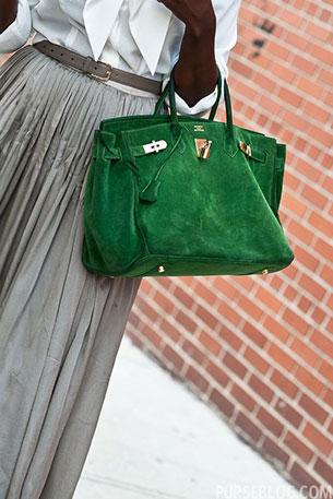 กระเป๋า Hermes สีเขียว
