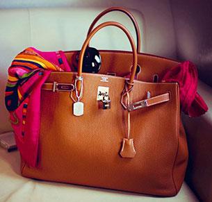 กระเป๋า Hermes Birkin สีน้ำตาล