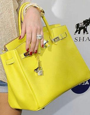 กระเป๋า Hermes Birkin สีเหลือง