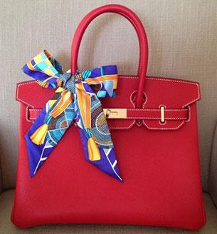 กระเป๋า Hermes Birkin สีแดง