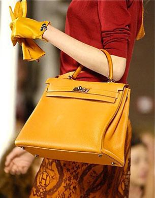 กระเป๋า Hermes Kelly สีน้ำตาล