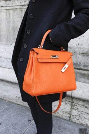 กระเป๋า Hermes Kelly สีส้ม