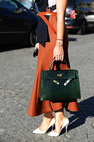 กระเป๋า Hermes Kelly สีเขียว