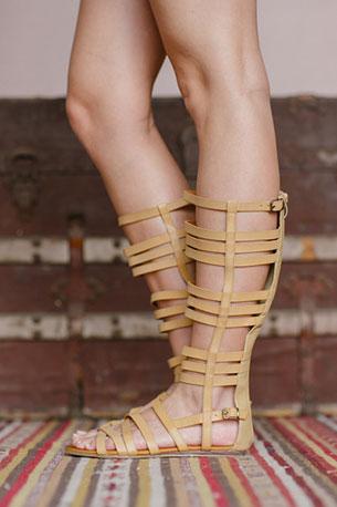 รองเท้าบูท Gladiator น้ำตาล