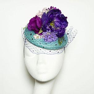 หมวก Purple floral Beret