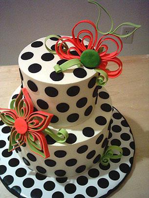 เค้ก Polka Dot