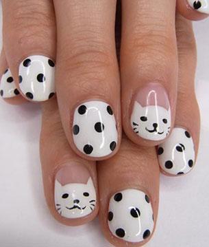 เล็บ Polka Dot แมว