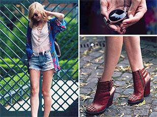 เสื้อกิโมโน Minkpink, รองเท้าบูท Kurt Geiger