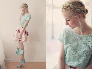เสื้อ Vero Moda, สร้อยคอ Madeleine Issing, กระโปรง Sheinside, กระเป๋า Zara, รองเท้า LovelyWholeSale