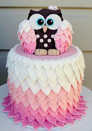 Cake นกฮูก
