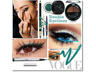 Double Eyeliner สีเขียว