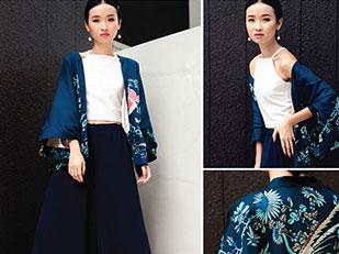 Dressabelle Kimono Cardigan, Feist By Heist Saya Halter Crop Top, Dressabelle Palazzo Pants