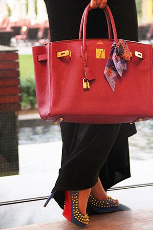 Hermes Birkin สีแดง
