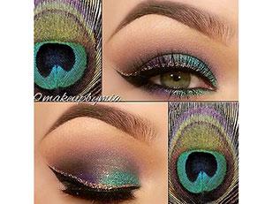 Peacock Eye Liner Makeup