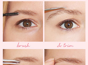 Perfect eyebrows without makeup