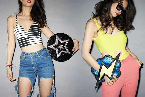 STAR sliver glitter Bag, THUNDER blue glitter Bag