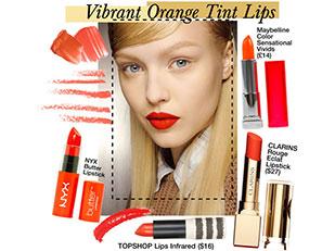 Vibrant Orange Tint Tips