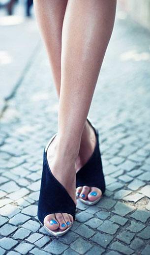 Zara Laminated Heel Sandal