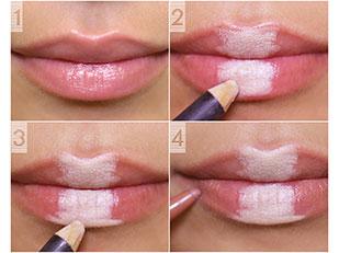 makeup trick fuller lips