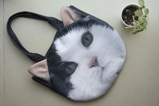 กระเป๋าแมว ดำขาว