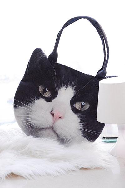 กระเป๋า แมวขาวดำ