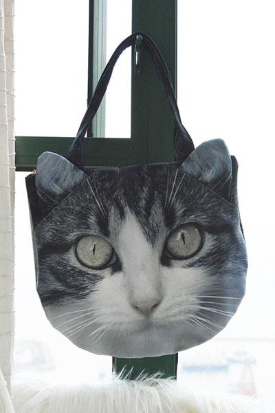 กระเป๋า แมวลายเทาดำ