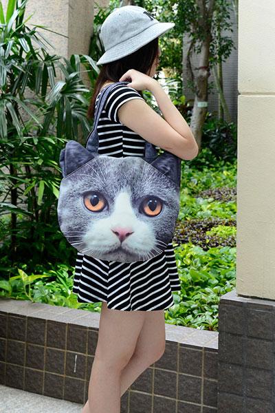 กระเป๋า แมวสีเทา