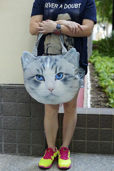กระเป๋า แมวเทา
