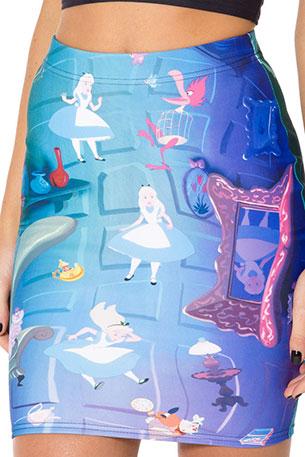 กระโปรงเข้ารูปแฟชั่น Alice in Wonderland