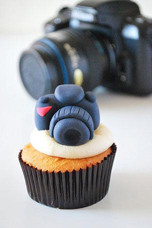 คัพเค้กไอเดีย กล้องถ่ายรูป